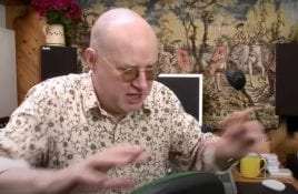 XTC's Andy Partridge pop ups behind the production buttons for Darling Boy's 'Breaking Into Forever' single