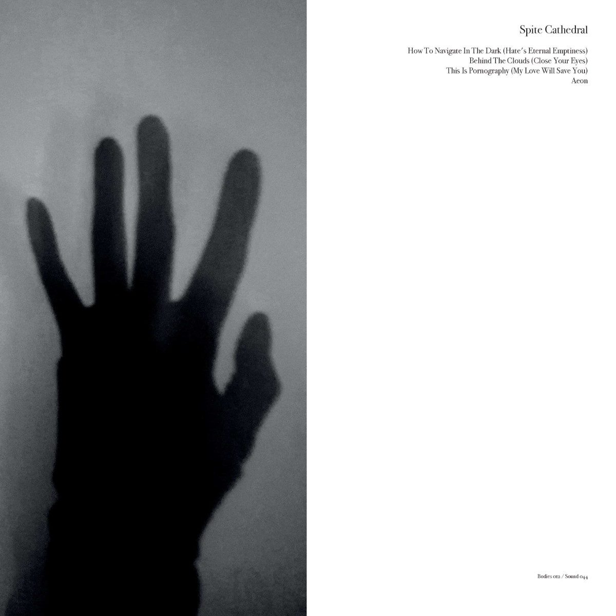Rather excellent new 12 inch from the Swedish act Spite Cathedral: 'How To Navigate In The Dark'