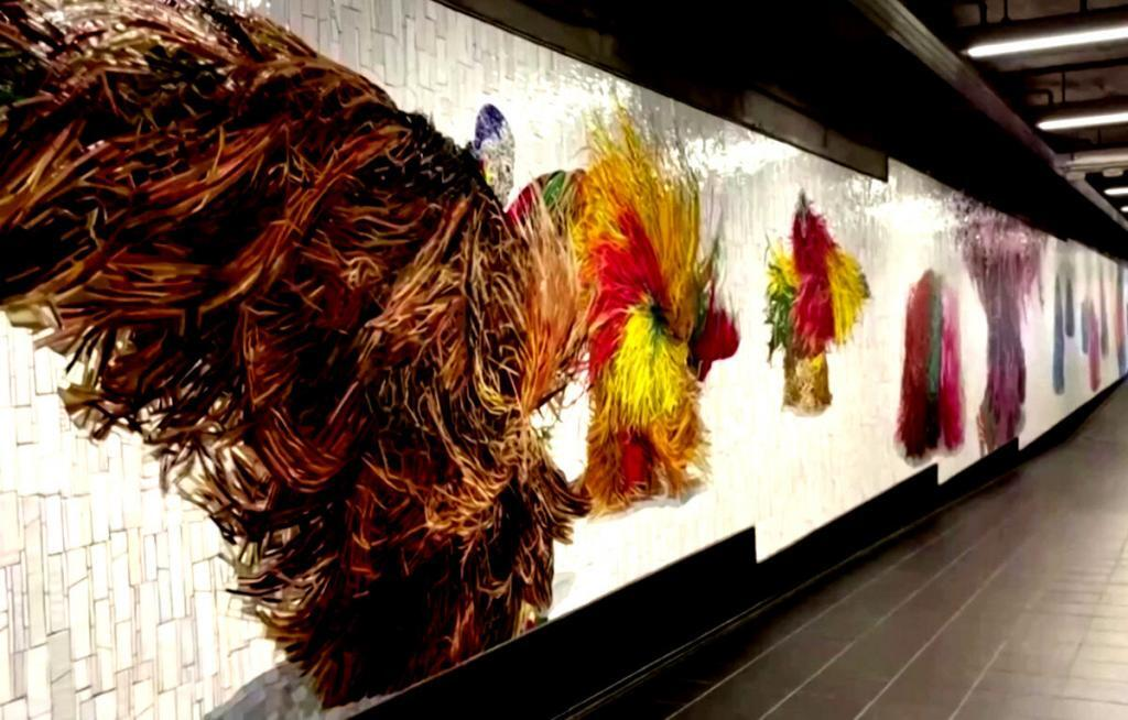 Nick Cave reveals 1st of 3 installations for the New York City's Metropolitan Transportation Authority (MTA)